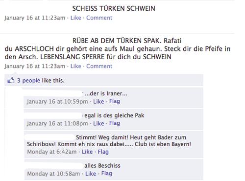 Beleidigungen auf Nürnbergs Facebook-Profil