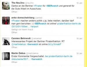 Twitter-Stimmen zu BERwatch