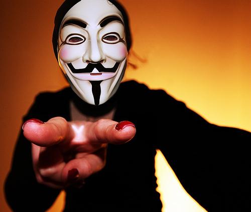 Hacker der Gruppe Anonymus