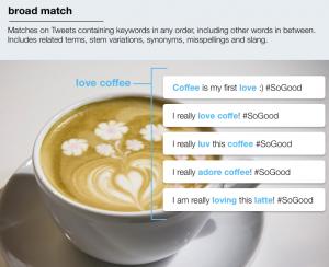Foto: Twitter Blog - Twitter erklärt wie Broad Match funktioniert
