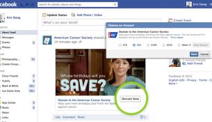 In den USA können Facebook-Nutzer direkt im Social Network spenden. Foto: Facebook