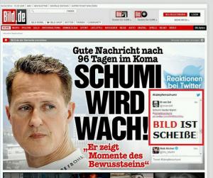 """""""Bild ist scheiße"""" im Twitterfeed von Bild.de"""