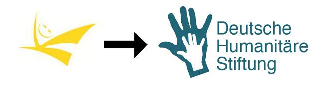 Das vorherige und neue Logo der DHS