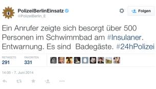 Foto:  Twitter / @PolizeiBerlin_E