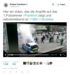 Foto: Twitter / @Polizei_Ffm