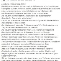 Facebook Statement VW