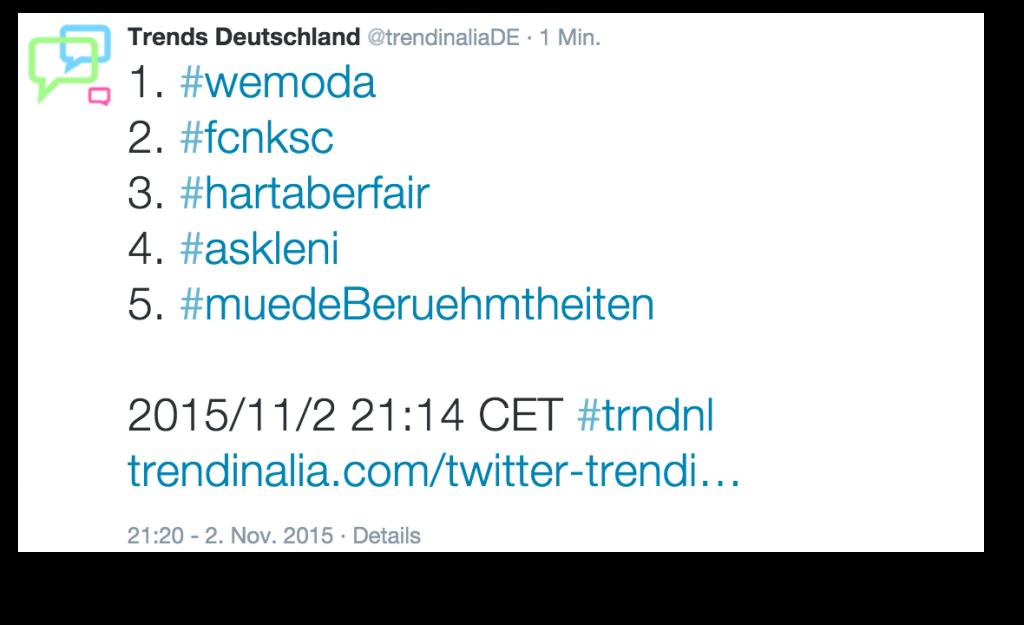 #wemoda Trending Topic