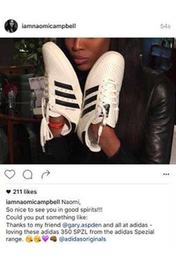 Naomi Instagram Post