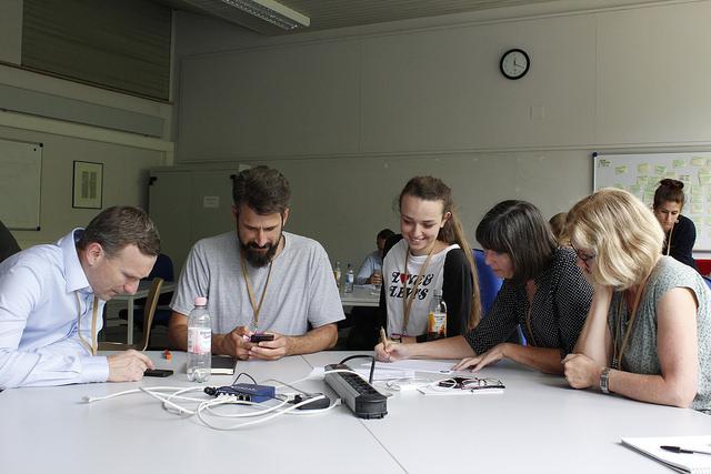 Foto aus einer Session beim Content Strategy Camp 2018