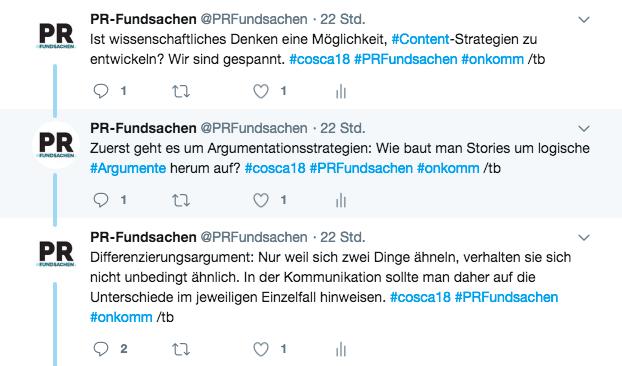Screenshot vom Tweet von @PRFundsachen am 16.06.18 um 13:53 Uhr.