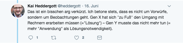 Screenshot Tweet von @heddergott am 16.06.2018.