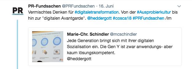 Screenshot Tweet von @PRFUndsachen am 16.06.2018.